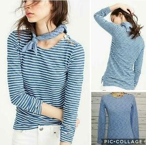 J. Crew Stripes Long Sleeve T